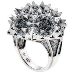 THOSCENE Fractal Silver Ring
