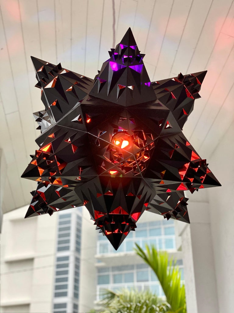 American Thoscene Tetrahedron Star Chandelier For Sale