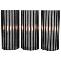 Three 1970's Modern Lucite Rod Lamps