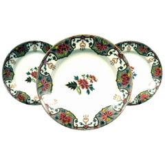 Three 19th Century Oriental Inspired Continental Porcelain Cabinet Plates