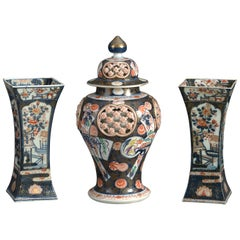 Three 19th Century Samson Imari Porcelain Vases