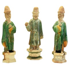 Three Ancient Terracotta Sculptures, China Ming Period