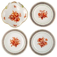 Three Antique Meissen Plates and One Bowl in Openwork Porcelain, Dated 1774-1814