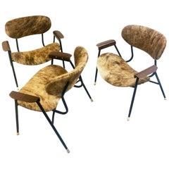Three Armchairs Gastone Rinaldi, 1950s