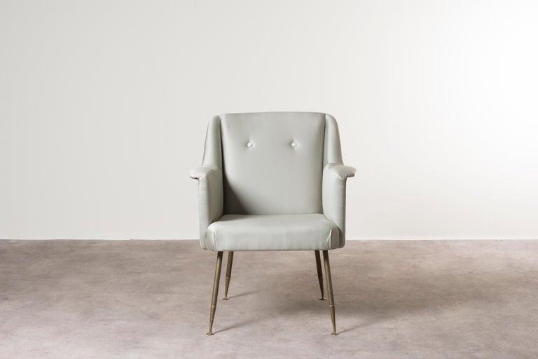 Mid-Century Modern Three Armchairs Mod, Camelia by Carlo Pagani For Sale