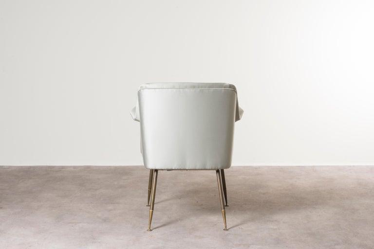 Brass Three Armchairs Mod, Camelia by Carlo Pagani For Sale
