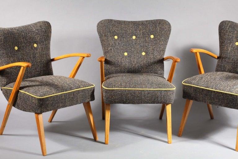 20th Century Three Armchairs, Vienna, 1950, Haus Und Garten For Sale