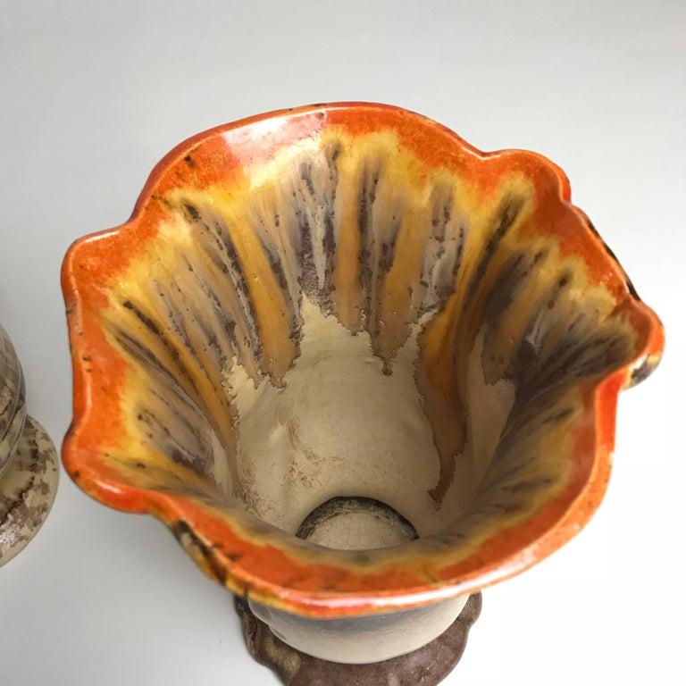 Three Art Deco Ceramic Glazed Vases, 1930s, Germany For Sale 6