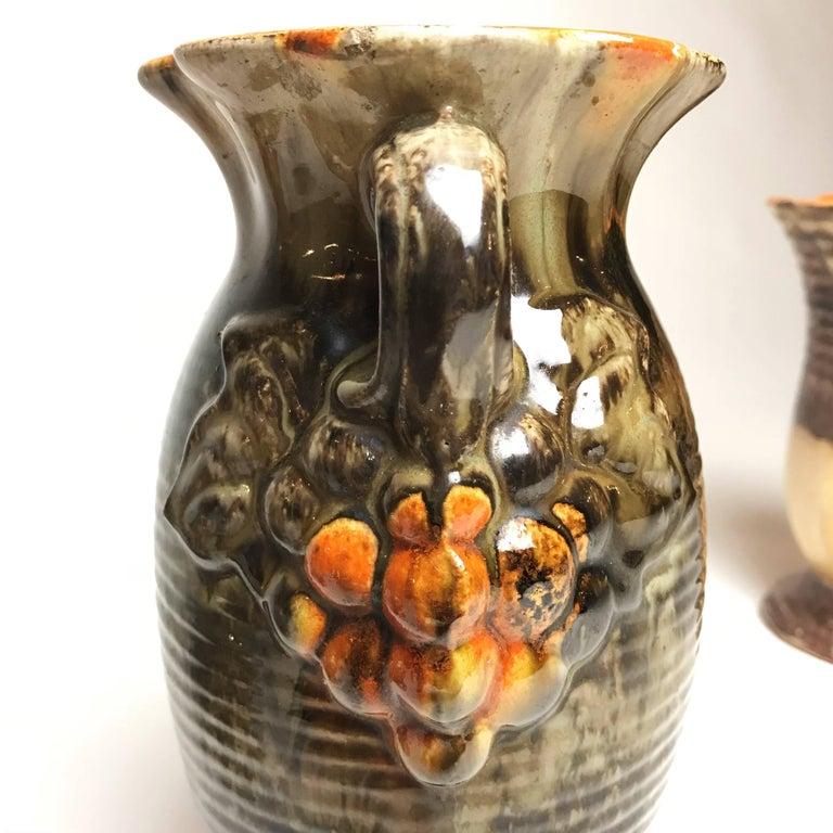 Three Art Deco Ceramic Glazed Vases, 1930s, Germany For Sale 2