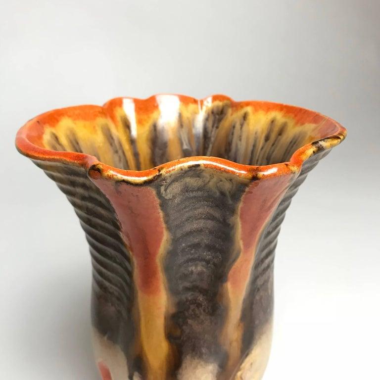 Three Art Deco Ceramic Glazed Vases, 1930s, Germany For Sale 5