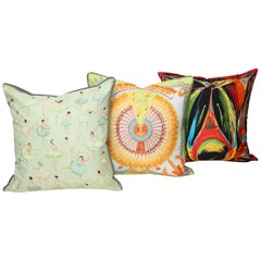 Three Assorted Hermes Silk Pillows