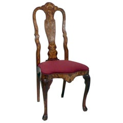 Three Baroque Style Inlaid Side Chair, Sold Singly
