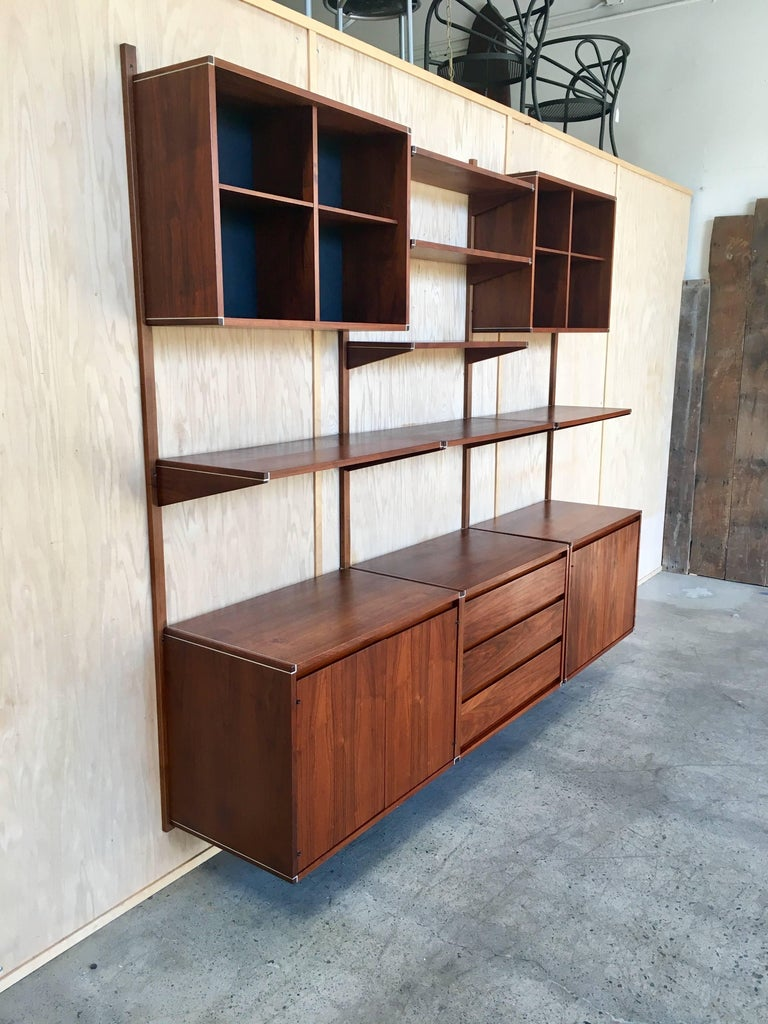 American three bay floating wall unit by barzilay for sale