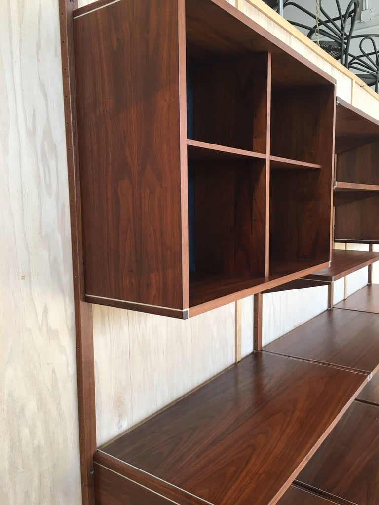 20th Century Three Bay Floating Wall Unit by Barzilay For Sale