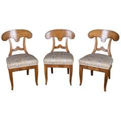 Three Beautiful Biedermeier Chairs Vienna Cherry, circa 1820