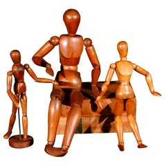 Three Belgian Wood Lay Figures, circa 1920