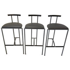 Three Bieffeplast Bar Stools, Italy, 1990s