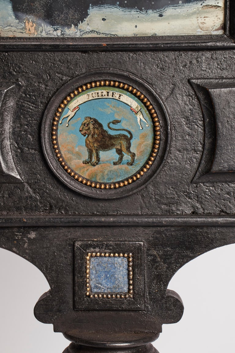 Three Big Mirrors with Zodiac Signs, Italy, 1800 For Sale 6