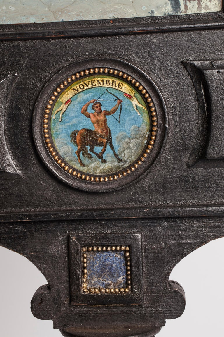 Three Big Mirrors with Zodiac Signs, Italy, 1800 For Sale 10