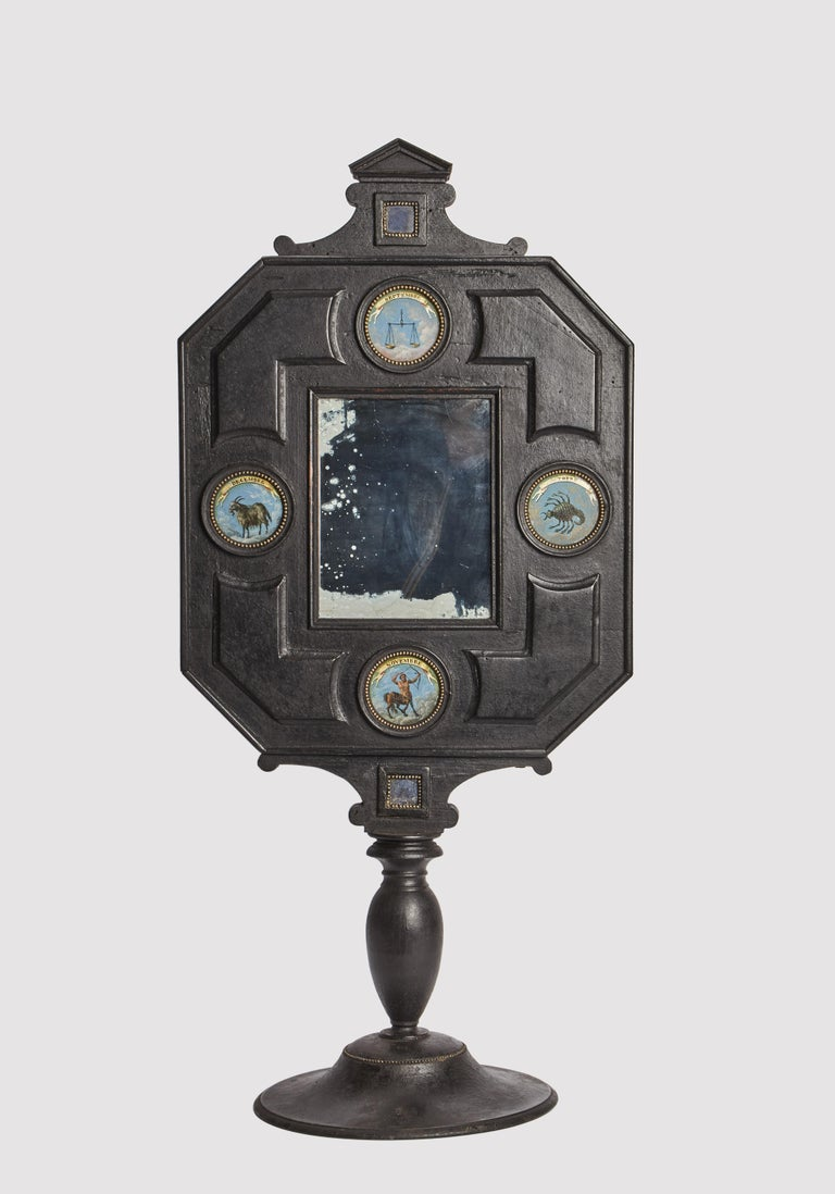Three Big Mirrors with Zodiac Signs, Italy, 1800 In Excellent Condition For Sale In Milan, IT
