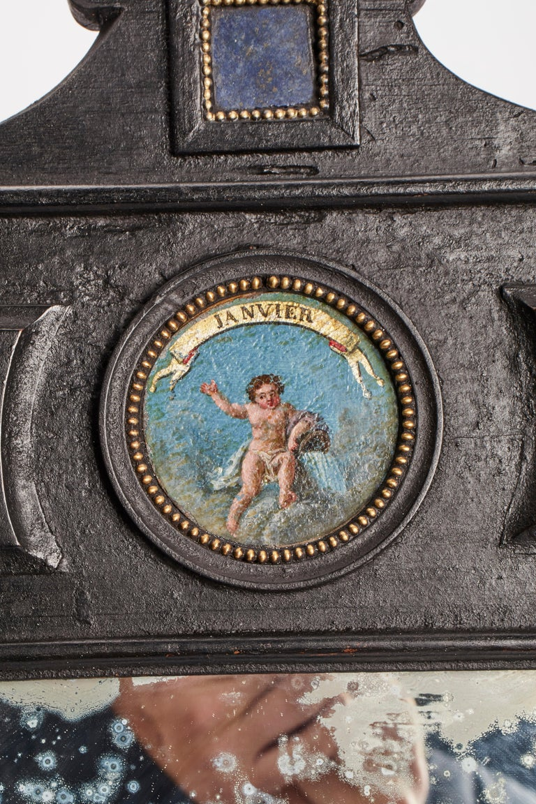 19th Century Three Big Mirrors with Zodiac Signs, Italy, 1800 For Sale