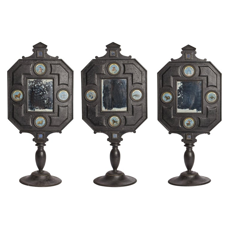 Three Big Mirrors with Zodiac Signs, Italy, 1800 For Sale