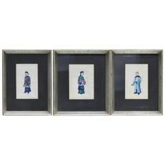 Three Chinese Watercolors, 19th Century