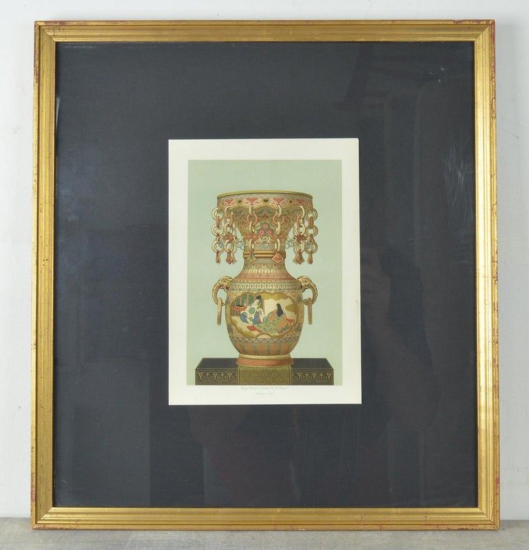 Japonisme Three Chromolithographs of Japanese Vases by Firmin Didot, Paris