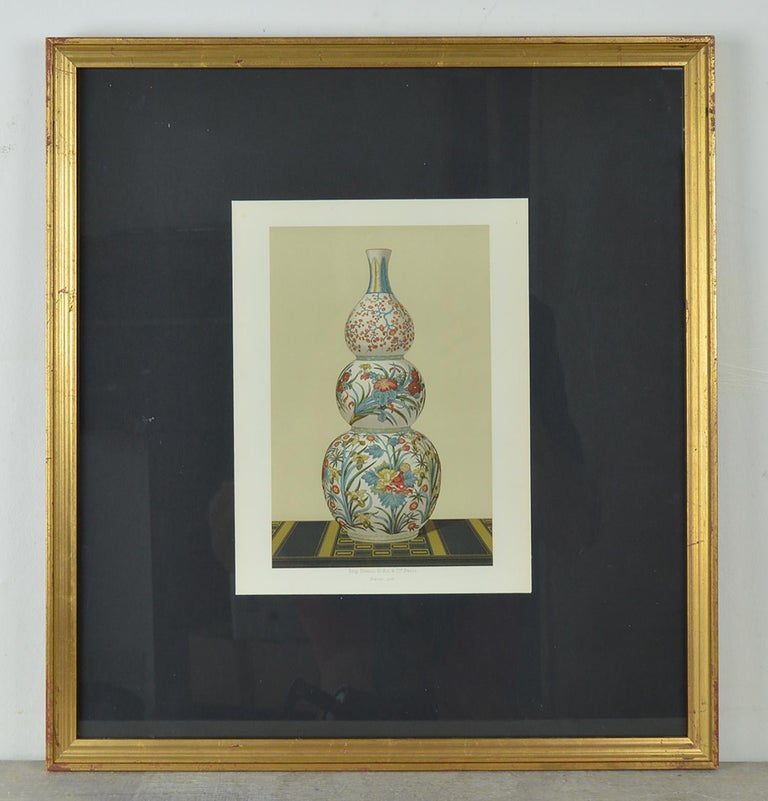 French Three Chromolithographs of Japanese Vases by Firmin Didot, Paris