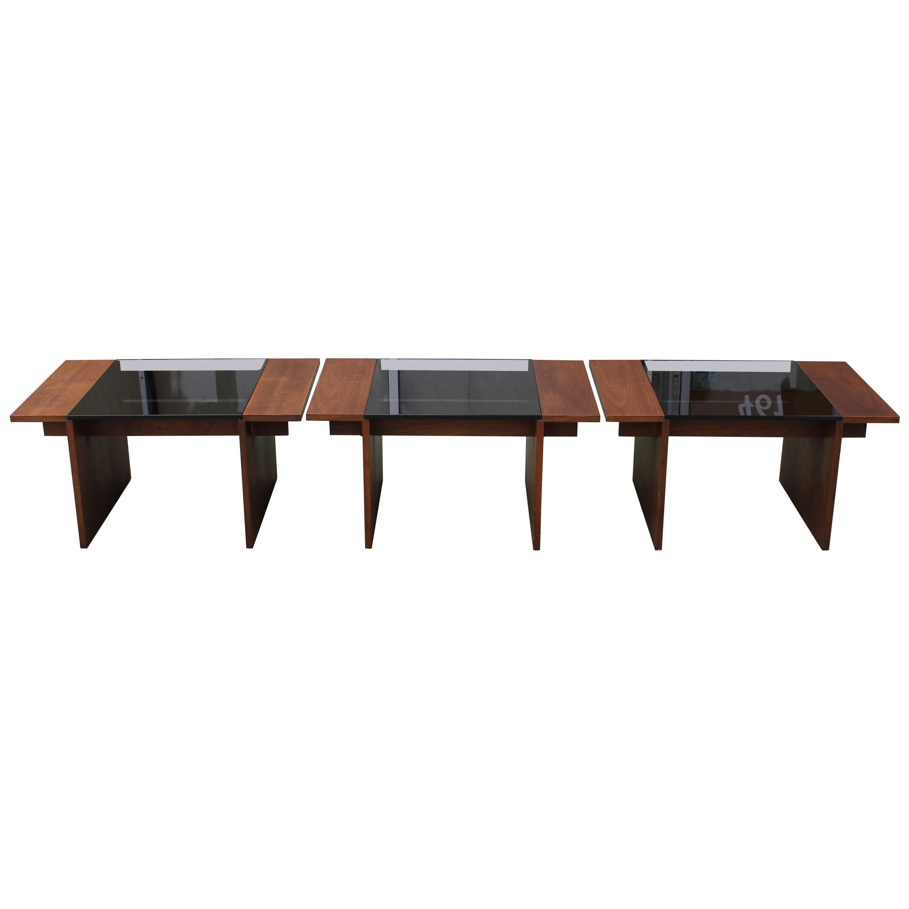Three Coffee Tables by Gerald McCabe for Brown Saltman