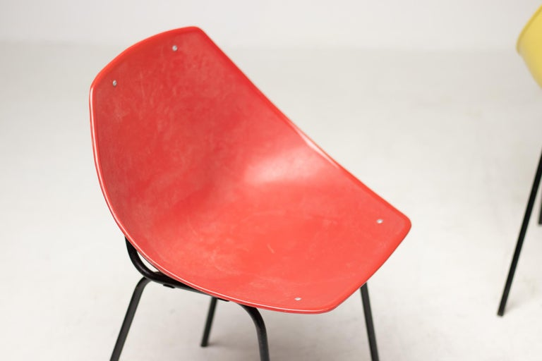 Mid-Century Modern Three Coquillage Chairs by Pierre Guariche For Sale