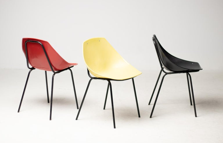 Belgian Three Coquillage Chairs by Pierre Guariche For Sale