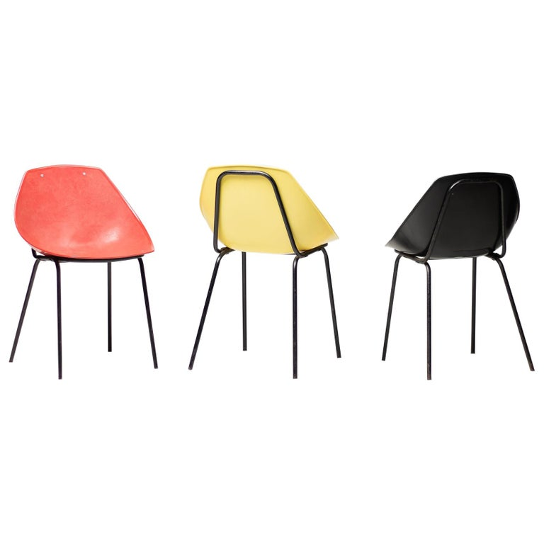 Three Coquillage Chairs by Pierre Guariche For Sale