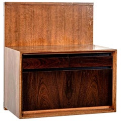 Three De Coene Wall-Mounted Consoles in Walnut and Rosewood