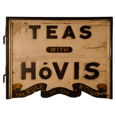 Three Dimensional Double-Sided Wooden Hovis Tea Shop Sign