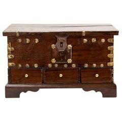Three-Drawer Brass Bound Chest