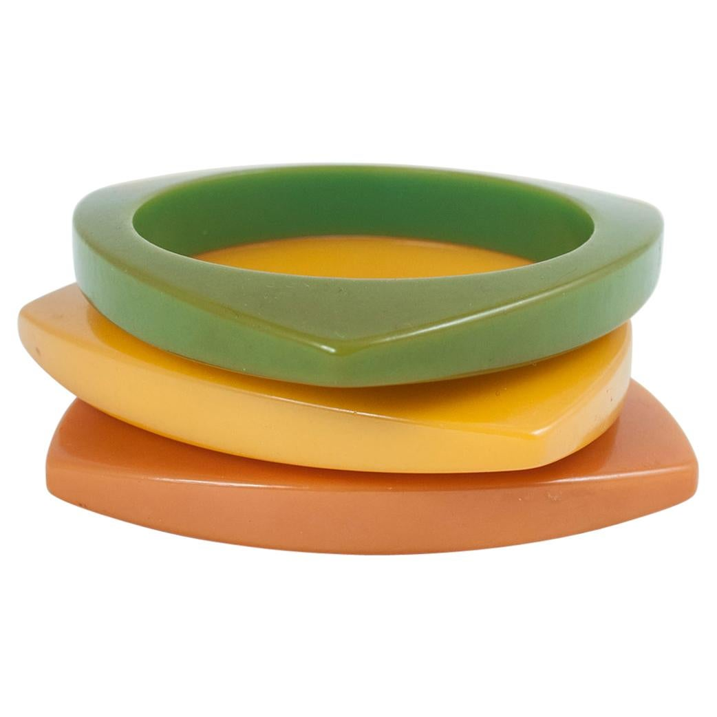 Three Early to Mid-20th Century Bakelite Bangle Bracelets