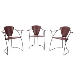 Three Editor's Chairs by Arrben, Italy, 1970s