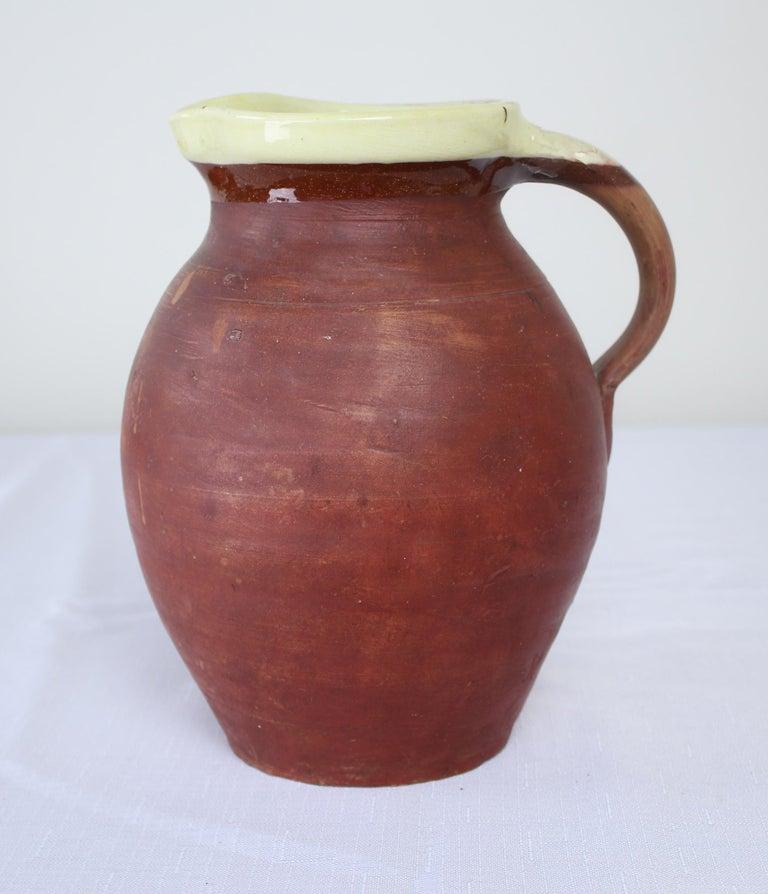 Pottery Three English Antique Slipware Jugs For Sale