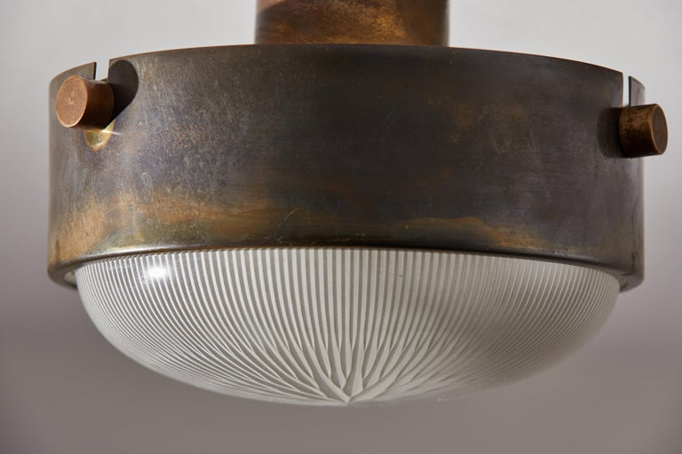 Three Flush Mount Ceiling Lights by Ignazio Gardella In Good Condition For Sale In Los Angeles, CA