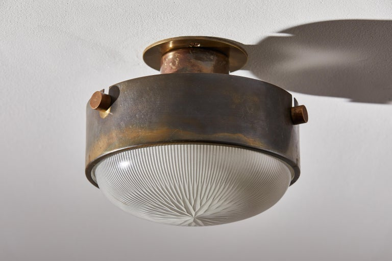 Mid-20th Century Three Flush Mount Ceiling Lights by Ignazio Gardella For Sale