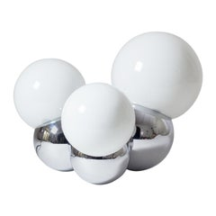 Three Globe Chrome Table Lamp by Reggiani, 1960s