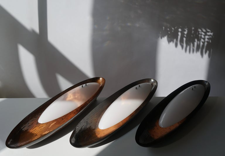 Three Hammered Copper Sconces by Reggiani For Sale 4
