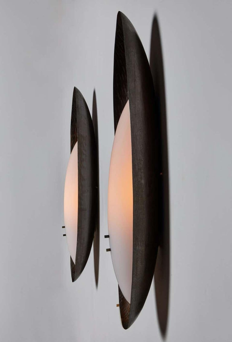 Mid-Century Modern Three Hammered Copper Sconces by Reggiani For Sale