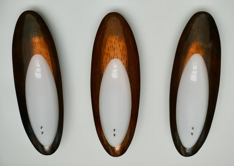 20th Century Three Hammered Copper Sconces by Reggiani For Sale