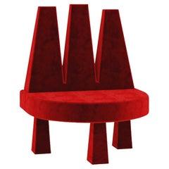 Three Headed Chair Red Velvet by Rejo Studio