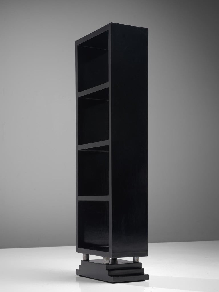Mid-20th Century Three Italian Black Bookcases, 1930s For Sale