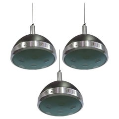 Three Italian Mid-Century Modern Pendants by Stilnovo, circa 1962
