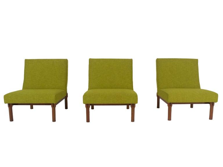 Mid-Century Modern Three Italian Modern Ico Parisi Chairs in Walnut Model 869, 1960s For Sale