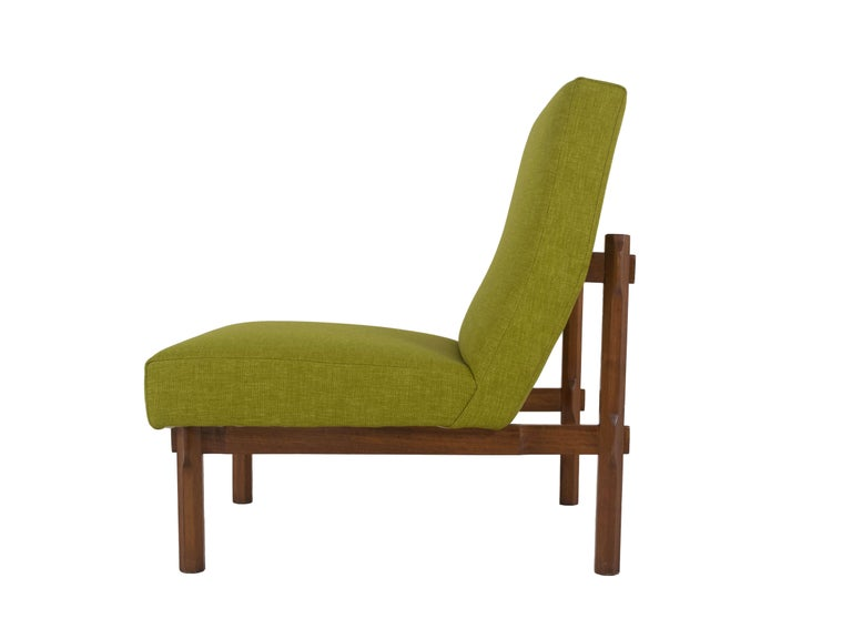Mid-20th Century Three Italian Modern Ico Parisi Chairs in Walnut Model 869, 1960s For Sale
